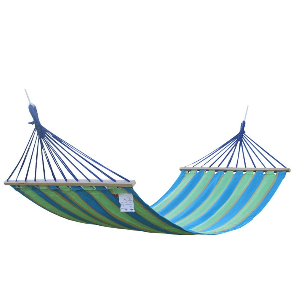 Zxcvlina Hammock Outdoor and Indoor Double Portable Single Hammock Lightweight Cotton Canvas Swing with Blue with Space-Saving Steel Stand by Zxcvlina
