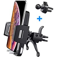 Baseus Car Vent Cell Phone Holder with iPhone X, 8/8 Plus, 7/7 Plus, 6/6 Plus, Samsung Galaxy S9, S8, S7, S6, S5 and More