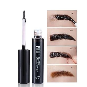 Liphop Long Lasting Waterproof Brown Black Peel Off Dye Eyebrow ...