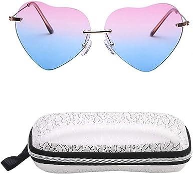 INTVN Gafas de Sol Mujeres Moda Forma de Corazón Gafas y Estuche de anteojos para Conducir Pescar Ir en bicicleta Esquiar Golf: Amazon.es: Ropa y accesorios