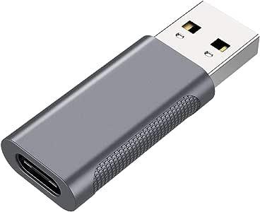 nonda Adaptador USB C a USB 3.0, USB-C Hembra a USB 3.0 Macho, USB Tipo C Hembra a USB 3.0 OTG Adaptador para MacBook Pro 2015, MacBook Air 2017, iPad Pro, Gris (NDMASGFM3)