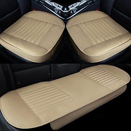 2pcs PU leather car seat cushion Front row seat covers Car Interior Universal