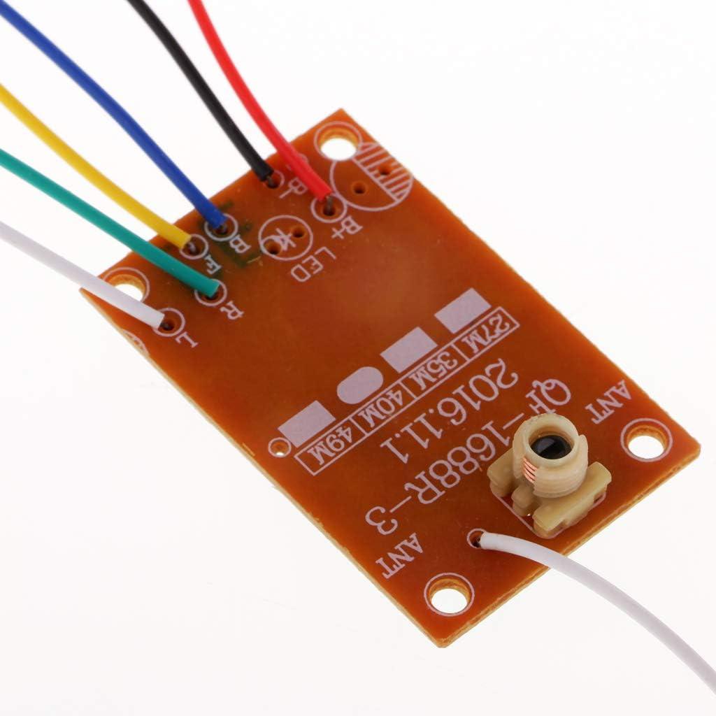 lahomia 27M 4CH Module de T/él/écommande R/écepteur Carte /émetteur pour Mini Jouet Bricolage RC
