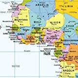 Political World Wall Map, Spanish Language, Mapa