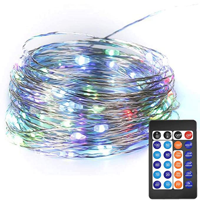 HAHOME Dimmable Led String Lights,33Ft Copper Wire 100 LEDs Fairy ...