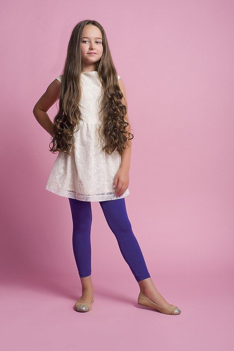 infatti Leggings pour Filles Long Jambi/ères Longueur du Cube Coton Pantalon Basic Opaque /Âge 4-12 Ans