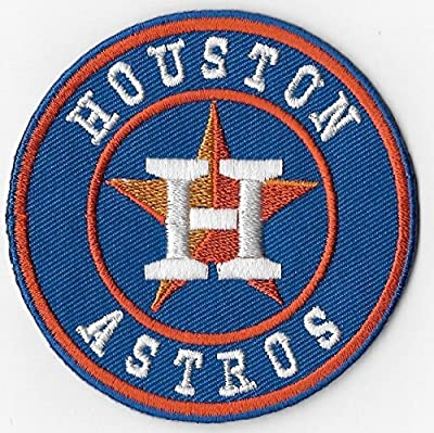 Houston Astros Round Baseball MLB Embroidered Iron On Patches Hat Jersey 3""