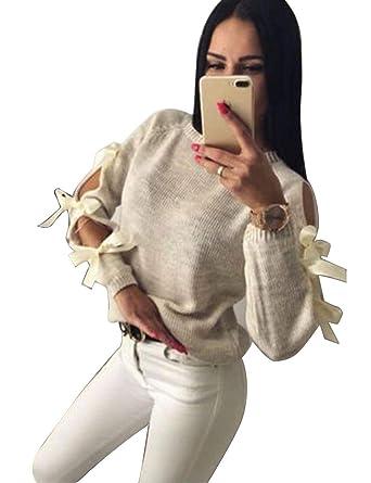 Pulli Sweater Pullover Damen Joyda Langarm Stricken Elegante Frauen xIqYw4zF