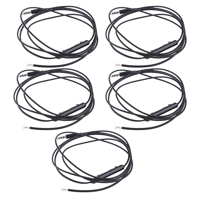 Amazon Com Monkeyjack 5pack Silver Plated 3 5mm Aux Audio Cable