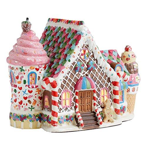 Holiday Christmas Lighted Porcelain House - Gingerbread - Gingerbread Sweet