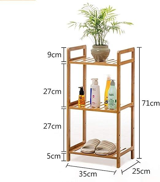 Soporte de Flores Multifuncional-Colgador de Piso en el Baño-Estante de Almacenamiento de la Sala de Estar Soporte de Planta, Soporte de Flores para el Hogar, Soporte de Exhibición de la Escalera del: