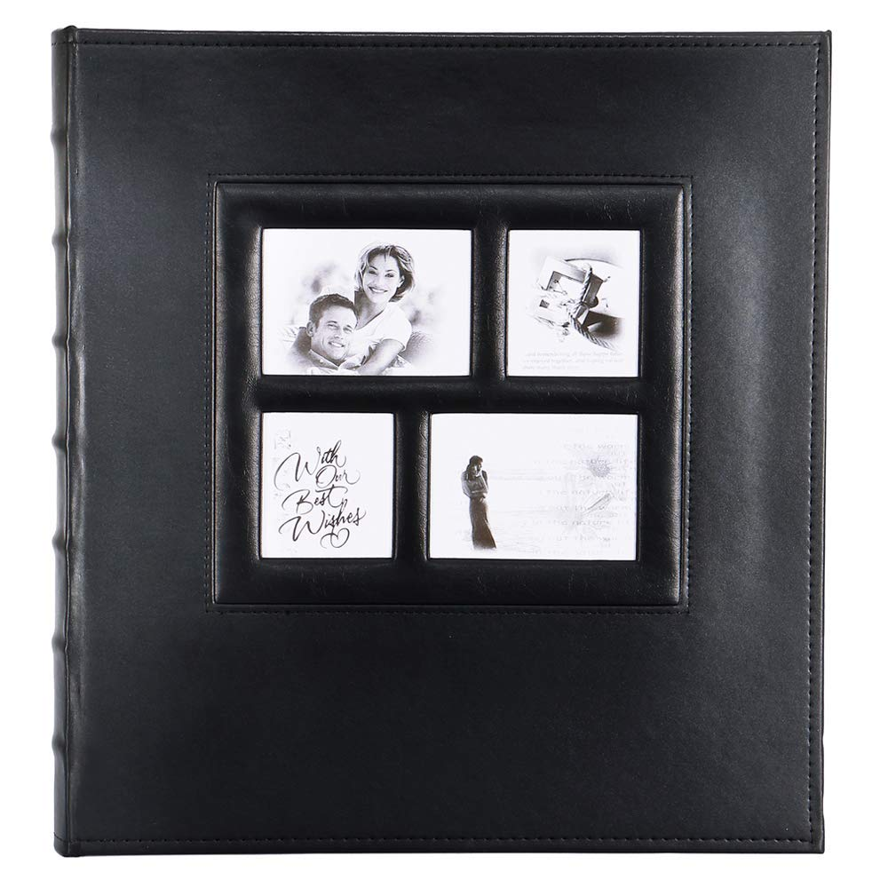 barsone Photo Picutre Album 4x6 500 Photos, Extra Large Capacity Leather Cover Wedding Family Anniversary Photo Albums Holds 500 Horizontal and Vertical Photos(Black)