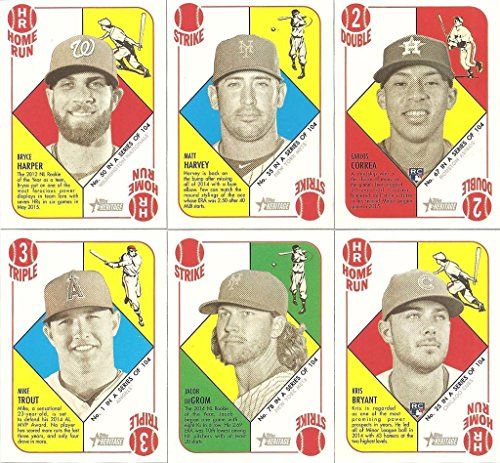(2015 Topps Heritage 1951 Collection MLB Baseball Series Complete Mint 104 Card Set LOADED with stars and rookie cards including Kris Bryant, Mike Trout, Bryce Harper, Thor and Others)