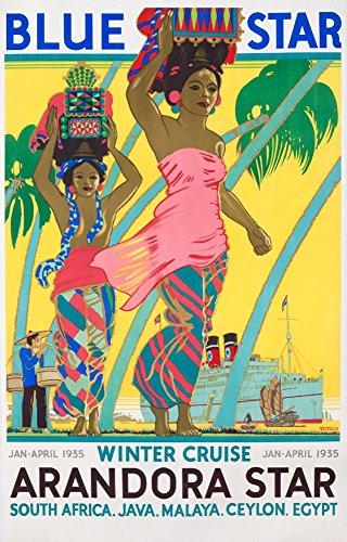 Blue Star - Arandora Star Vintage Poster artist: Shoesmith c. 1935 Collectible Giclee Gallery