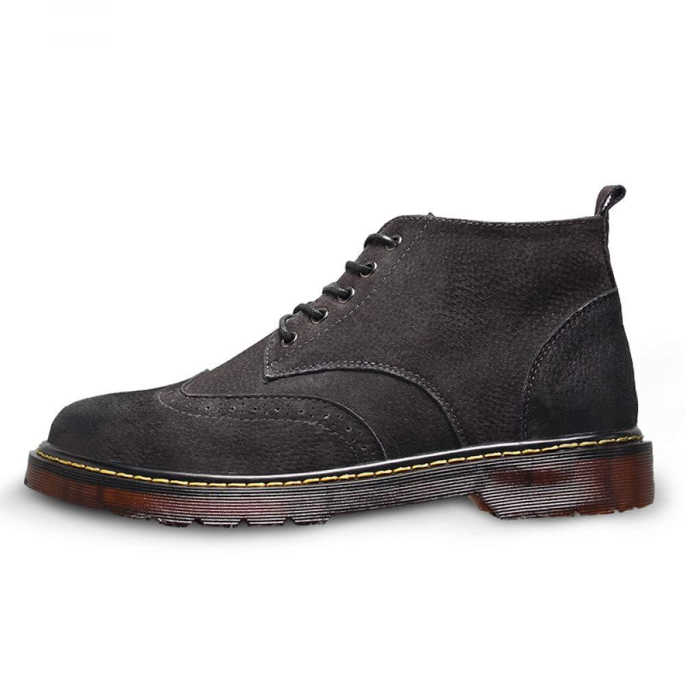 FHCGMX Leder Casual Stiefel Stiefel Stiefel Männer Herbst Winter Stiefeletten Mode Männer Lace-Up Kurze Stiefel Männer Qualität Retro Männer Schuhe 4a39e4