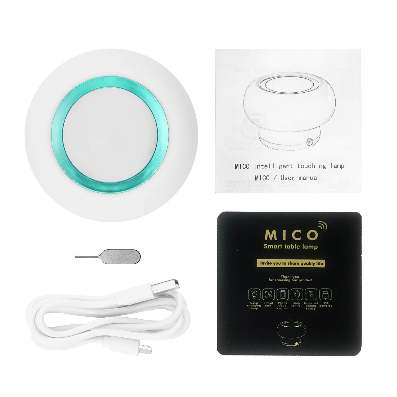 Supporto APP IOS//Android regola i colori freddi e caldi Intelligente LED lampada fungo Rosa NANTING Lampada da tavolo controlla la luce a infrarossi domestica quando non /è in casa