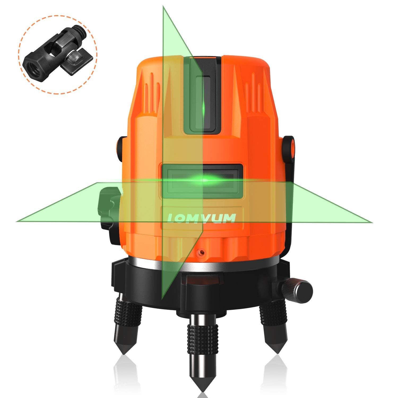 Nivel Lá ser Verde con Autonivelació n, LOMVUM Nivelador Autonivelante cruzado de 40m, Lá ser de lí neas automá tica 110° horizontal/vertical,un soporte magné tico (3 lí neas) un soporte magnético (3 lín