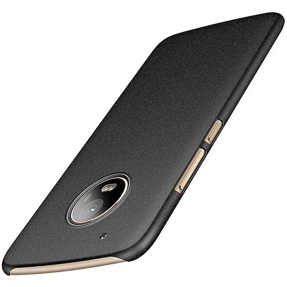pretty nice 91448 6a7df Avalri Moto G5 Plus Case, Ultra Thin Anti-Fingerprint and Minimalist Hard  PC Cover for Motorola Moto G5 Plus (Matte Black)