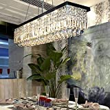 linear crystal chandelier. Siljoy L39.5\ Linear Crystal Chandelier