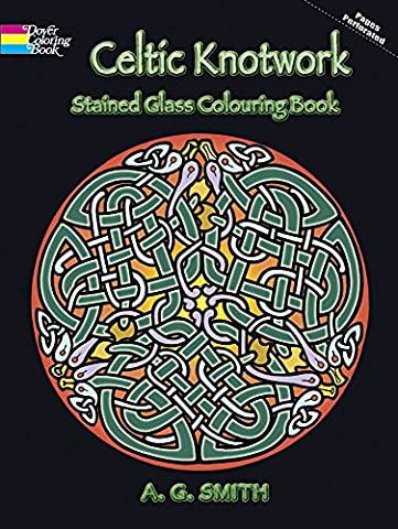 Celtic Knotwork Stained Glass Colouring Book (Dover Design Stained Glass Coloring Book) - Metallic Knot