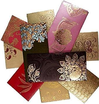 Amazon Com Shagun Gift Envelope Pack Of 10 2 Free Assorted