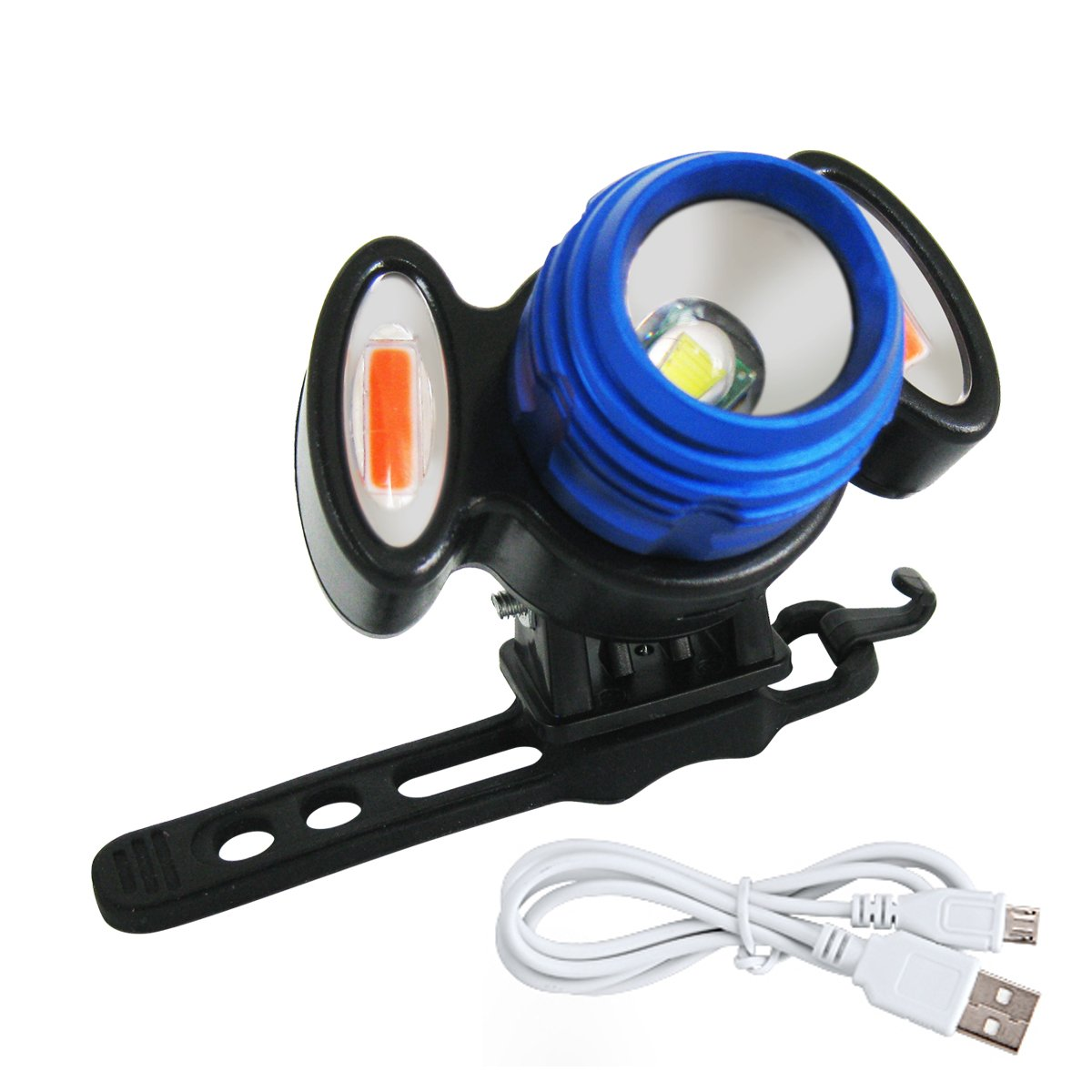 1582a79c2bd6 E-Goal 4 Modes LED Head lamp Bike Light Rechargeable Headlight 18650 Head  with USB outlet