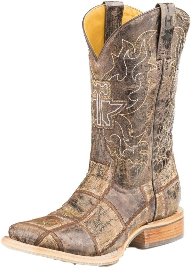 14-020-0007-0342 Br Tin Haul Mens Money Maker Western Boot Square Toe