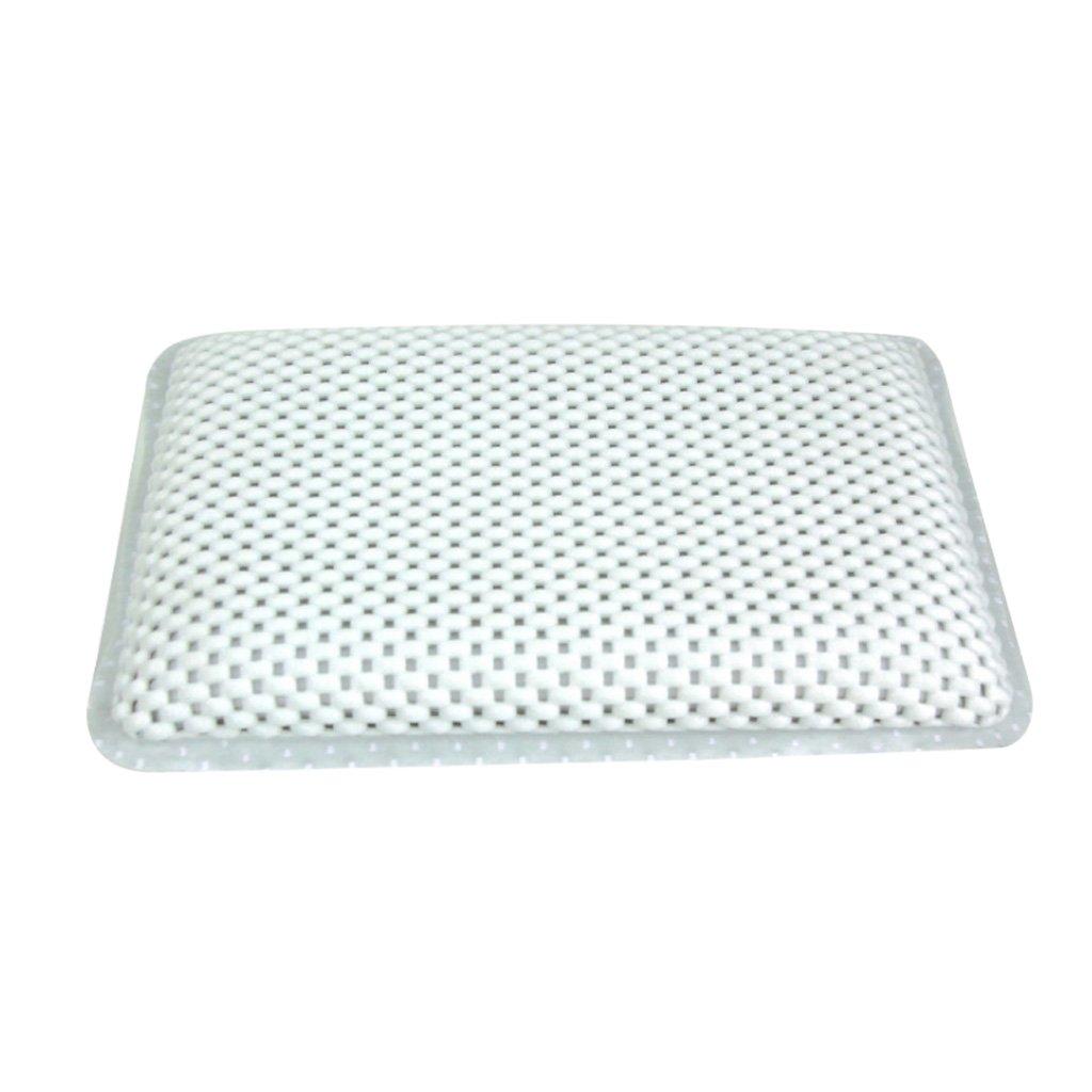 Homyl Neck Support Pillow Non-Slip Spa Bath Tub Waterproof Pillow Shoulder 29x19cm