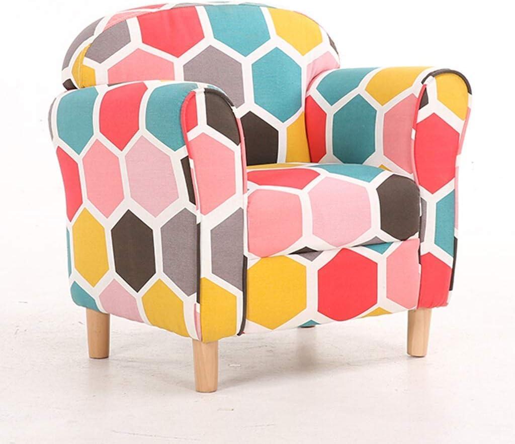 KFDQ Novelty Kids Sofa,Household Kids Couch,Mini Mini Comfort Durability Reathable Children Child Upholstered Sofa,B