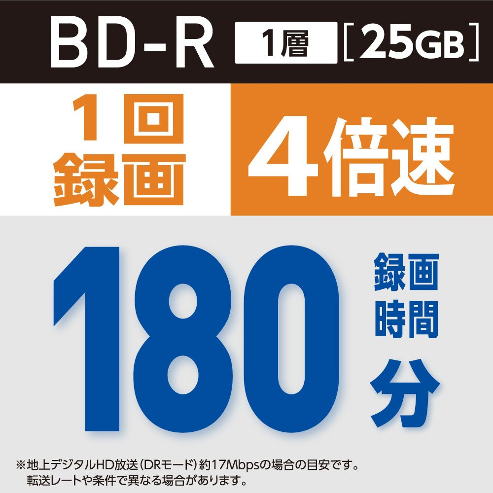 Verbatim Mitsubishi 25GB 4x Speed BD-R Blu-ray Recordable Disk 20 Pack - Ink-jet printable - Each disk in a jewel case