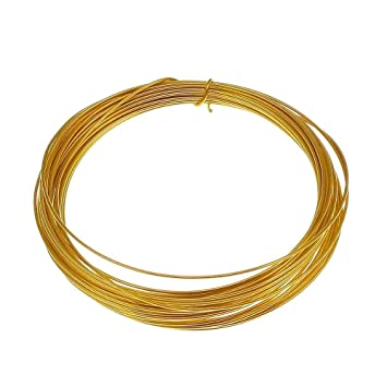 0,8 mm (20 Gauge) Craft/Schmuck Draht – 24 K vergoldet – 6 m: Amazon ...