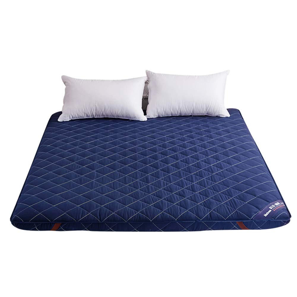A King Thicken Tatami Sleeping Floor Mat, Foldable Ergonomics Japanese Bed Roll Mattress Topper Pad Cover Bed for Student Dormitory -c Queen