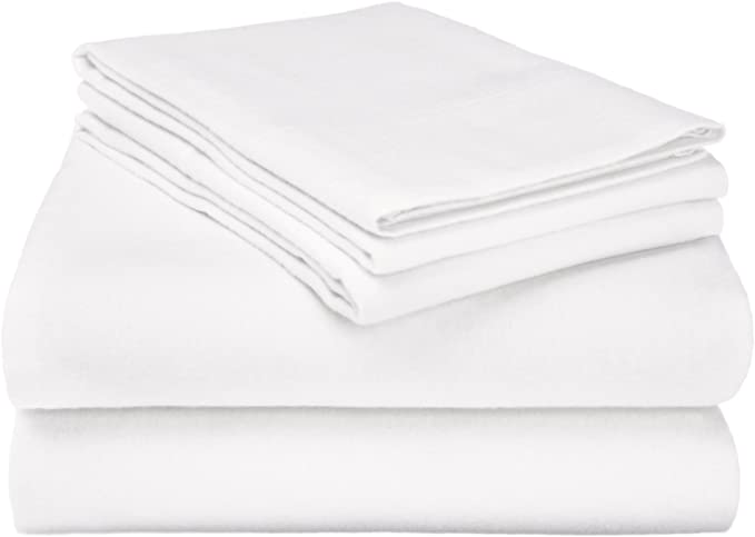 Night Zone Plain Dyed 100/% Brushed Cotton Flannelette Flat Sheet