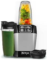 Ninja BL480 Batidora de vaso 1000W Negro, Plata - Licuadora (Batidora de vaso,