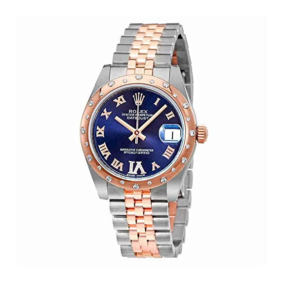 Rolex Oyster Perpetual Datejust 31 Morado Diamante Dial Damas Reloj 178341purdj: Amazon.es: Relojes
