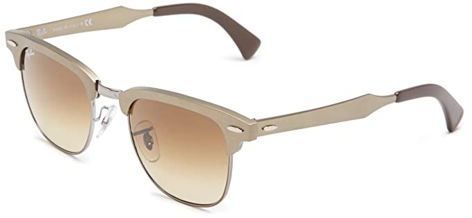 ray ban clubmaster aluminum review  Amazon.com: Ray-Ban CLUBMASTER ALUMINUM - BRUSHED BRONZE/GUNMETAL ...