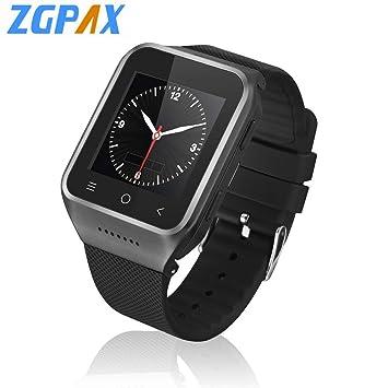 Mazur ZGPAX S8 Bluetooth Reloj Inteligente Android 4.4 MTK6572 Dual Core GPS 3.0MP cámara WCDMA