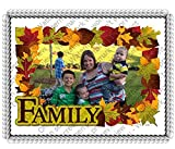 1/2 Sheet Fall Family Add Your Picture Photo Frame Edible Image Cake Topper