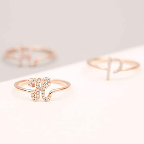 788cce1a3 Image Unavailable. Image not available for. Color: GRACE PERSONALIZED | Custom  Initial Ring | Dainty Gold ...