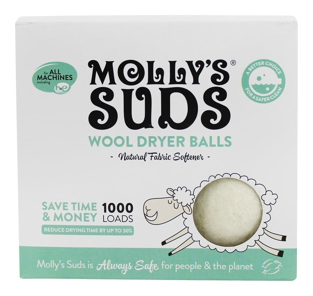 Molly's Suds - Wool Dryer Balls - 9.04 oz. Molly' s Suds