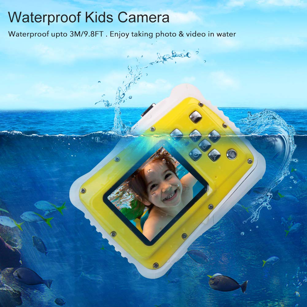 Smyidel Waterproof Mini Kid Camera High Definition 12MP HD 3M Underwater Swimming Digital Camera Camcorder 2.0 Inch LCD Display (Yellow) by Smyidel (Image #5)