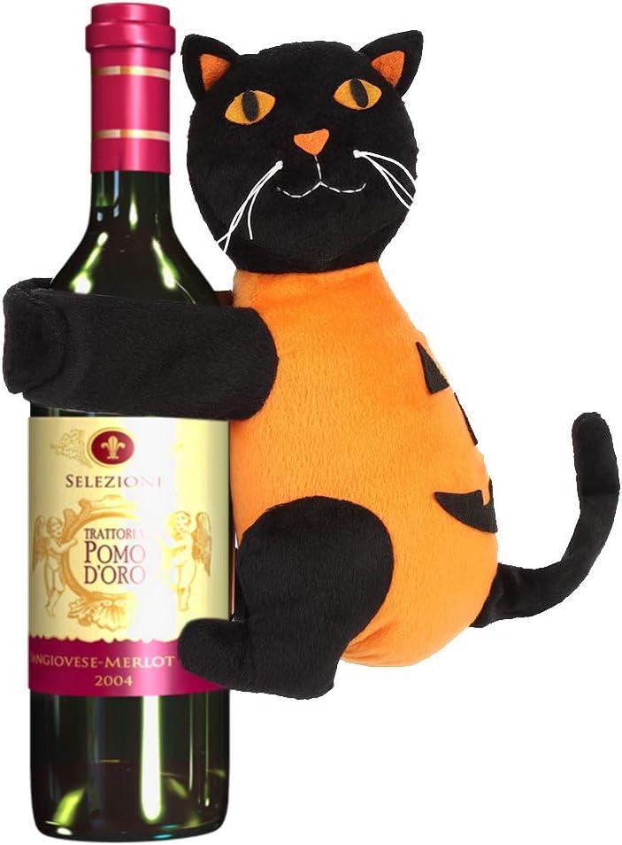 Compra Baipin Juego de decoración para Botellas de Vino y champán, Gato Negro Interesante, Juguete, Botella de Vino, Vestido, Halloween, Fiestas, Botellas de Vino, Decoraciones en Amazon.es