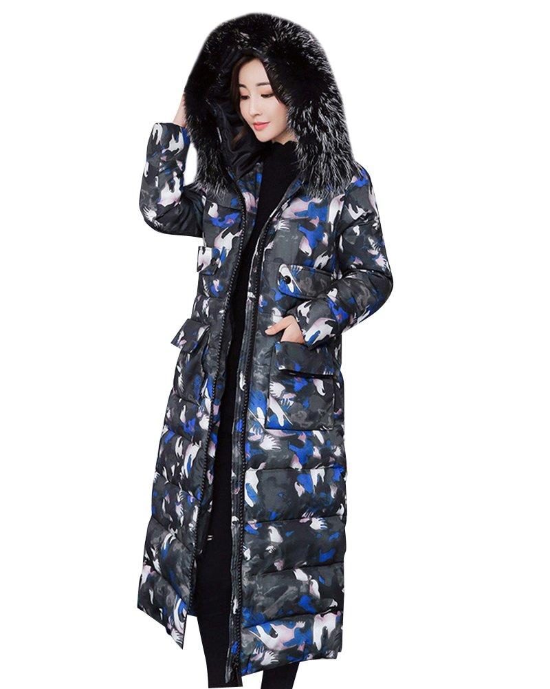 Mujeres caliente del invierno Delgada Slim Down Abrigo capa de la chaqueta Capucha Manga Larga Para