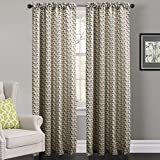 """IYUEGO Contemporary Cold Colors Overlapping Chevron Rod Pocket Top Lined Blackout Curtains Draperies With Multi Size Custom 100"""" W x 84"""" L (One Panel)"""