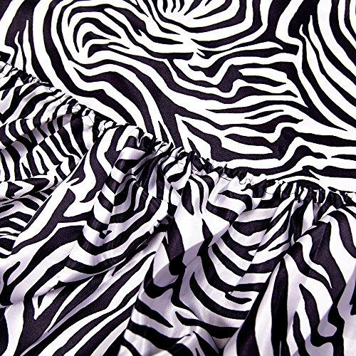 HONEYMOON HOME FASHIONS Queen Sheet Set Luxury Silkily Like Satin Bed Sheets, Zebra by HONEYMOON HOME FASHIONS (Image #3)
