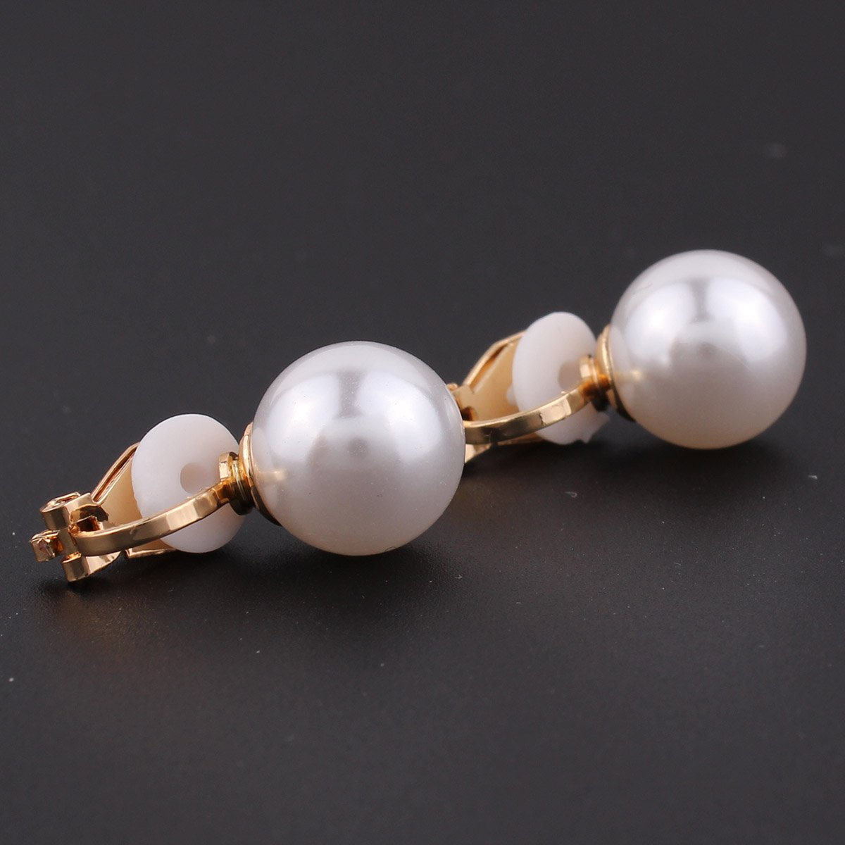 Honey 1 Pair Sell Jewelry New Brand Design Gold Color Pearl Hoop Earrings For Women 2018 New Accessories Wholesale 4mm 6mm 8mm Special Buy Jewelry & Accessories Hoop Earrings