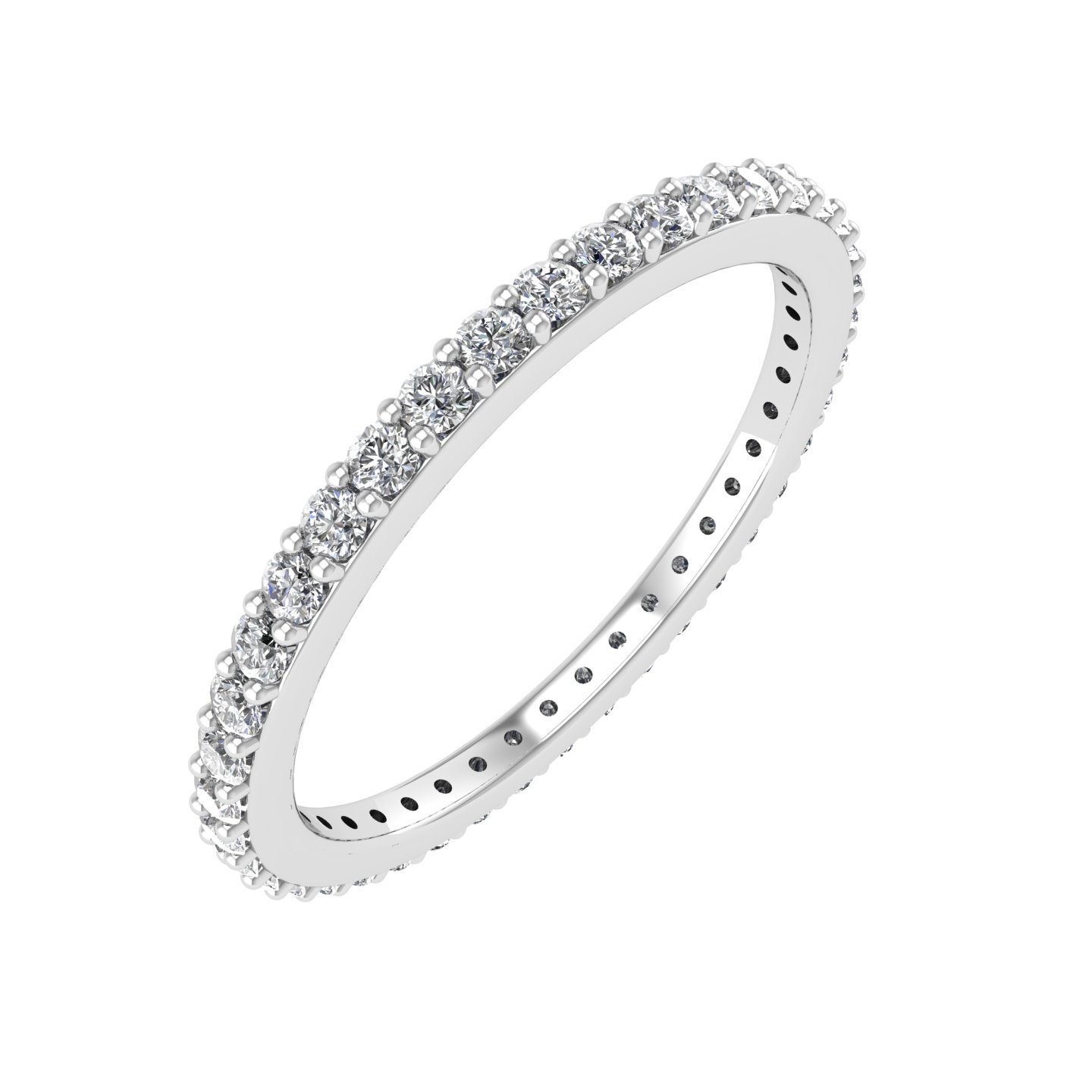 14k White Gold Diamond Eternity Band Ring (0.45 Carat)