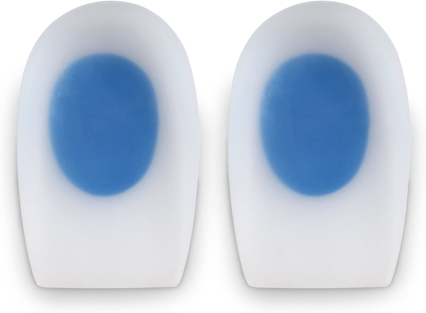 Soles Silicone Heel Cups (Pair) Soft Cushions to Help Relieve Foot Pain, Bone Spurs, Plantar Fasciitis - Hypoallergenic, Stain and Odor Resistant - Unisex - XL / 42-43-44: Health & Personal Care
