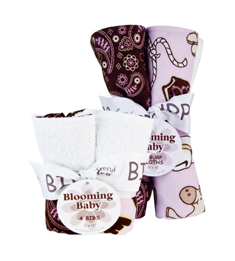 Bouquet Set - Zahara - Bib & Burp Cloth