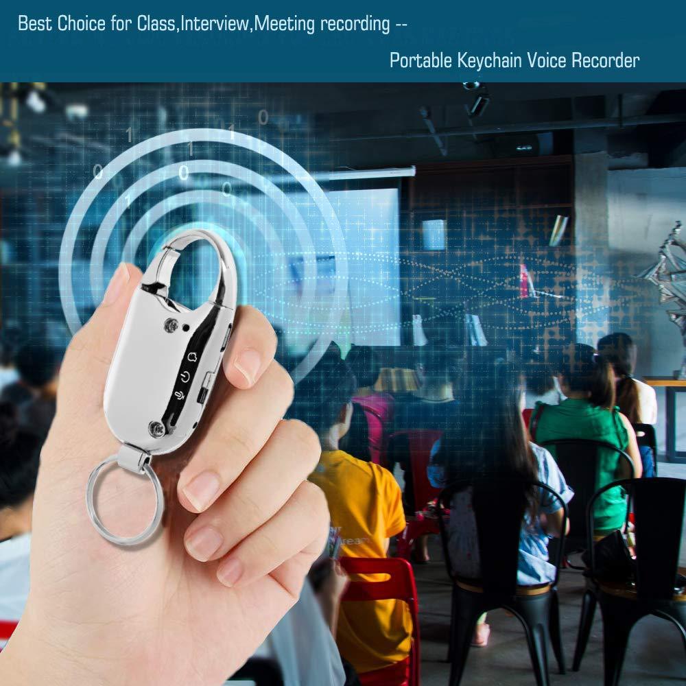 Amazon.com: Llavero grabador de voz digital, activado por ...